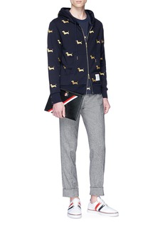 Thom Browne Hector embroidered zip hoodie