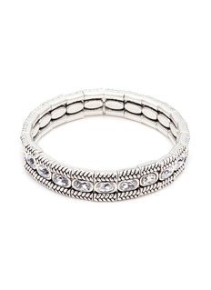 Philippe Audibert 'Claud' Swarovski crystal braid effect plate elastic bracelet