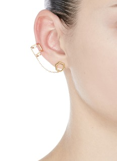 Michelle Campbell 'Honeycomb' ear cuff link single stud earring