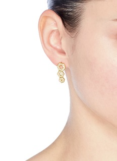 Michelle Campbell 'Honeycomb' climber earrings