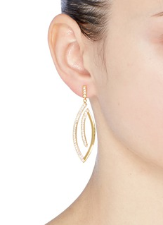 Michelle Campbell 'Leaf' drop earrings