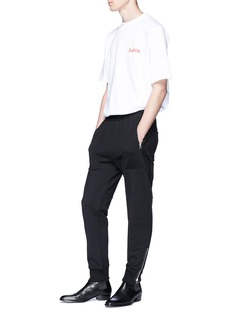 Helmut Lang Logo embroidered tapered leg jogging pants