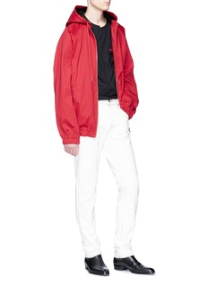 Helmut Lang Hooded twill track jacket