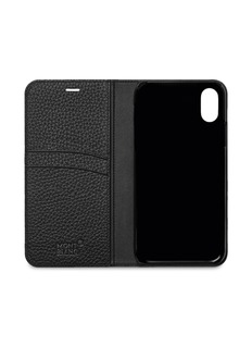 Montblanc Flipside leather iPhone X case