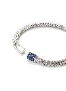 John Hardy Sapphire silver extra small woven chain bracelet