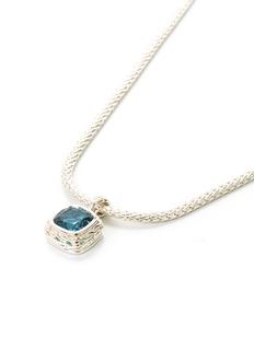 John Hardy Topaz silver mini pendant necklace
