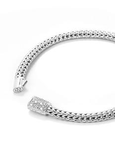 John Hardy Diamond silver extra small woven chain bracelet
