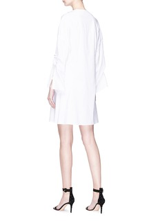 Esteban Cortazar 'Bomber' stud placket poplin shirt dress