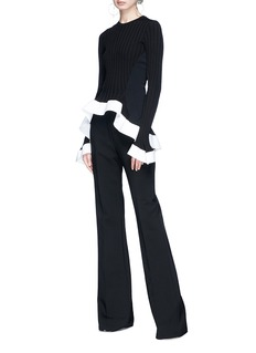 Esteban Cortazar Panelled ruffle sweater