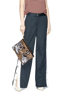 Venna Tiger patch leopard print hair clutch