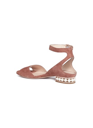 Detail View - Click To Enlarge - Nicholas Kirkwood - 'Lola Pearl' suede sandals