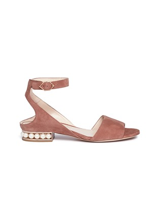 Main View - Click To Enlarge - Nicholas Kirkwood - 'Lola Pearl' suede sandals