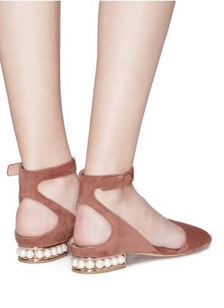 Figure View - Click To Enlarge - Nicholas Kirkwood - 'Lola Pearl' suede sandals