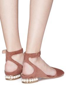 NICHOLAS KIRKWOOD Lola Pearl人造珍珠镂空绒面真皮凉鞋