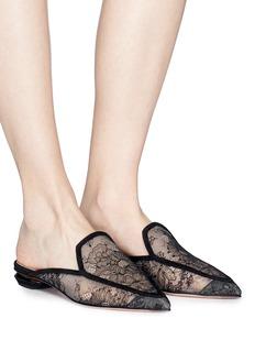 Nicholas Kirkwood 'Beya' metal heel floral lace loafer mules