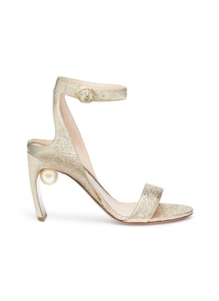 Main View - Click To Enlarge - Nicholas Kirkwood - 'Lola Pearl' crinkled leather sandals