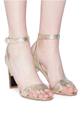 Figure View - Click To Enlarge - Nicholas Kirkwood - 'Lola Pearl' crinkled leather sandals