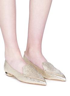 Nicholas Kirkwood 'Beya' metal heel leather skimmer loafers