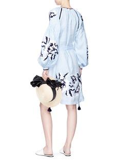 MARCH11 Serena流苏缀饰系带灯笼袖连衣裙