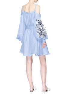 MARCH11 Annabell花卉刺绣挖肩系带娃娃裙