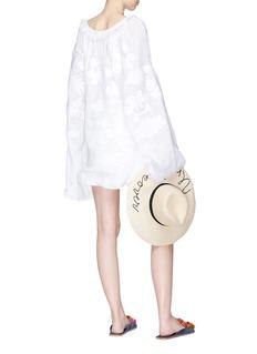 March11 'Astrid' tassel cross stitch wide sleeve blouse