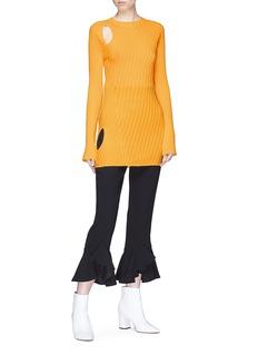 ELLERY Aquarius镂空挖肩纹理针织衫