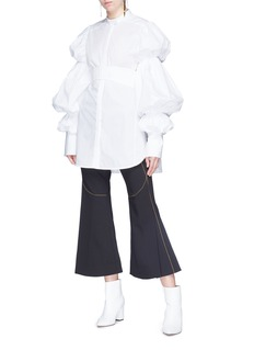 Ellery 'Velocity' topstitch flared suiting pants