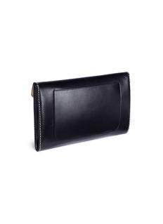 Alaïa Stud leather envelope clutch