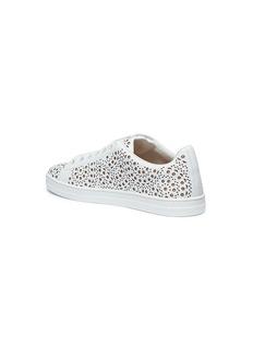Alaïa Geometric lasercut leather sneakers