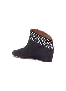 Alaïa Stud suede ankle boots
