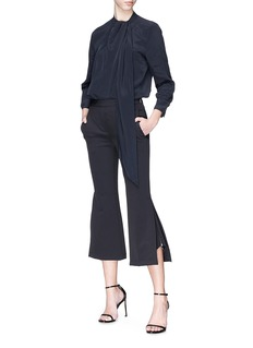 Neil Barrett Zip cuff cropped flared suiting pants