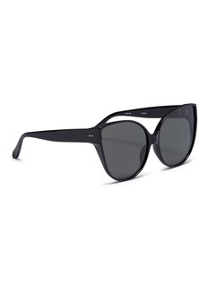 Linda Farrow Acetate oversized cat eye sunglasses