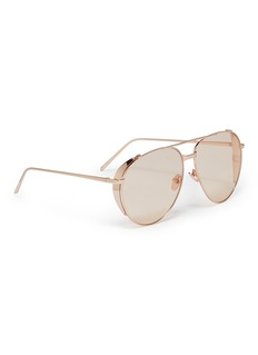 Linda Farrow Spoiler metal aviator sunglasses