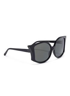 LINDA FARROW VINTAGE 'Lerreta' acetate bat sunglasses