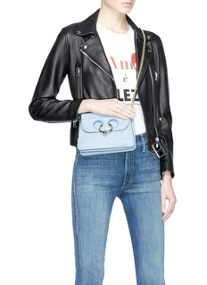 JW Anderson 'Pierce' barbell ring mini leather crossbody bag
