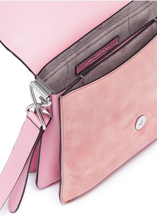 Detail View - Click To Enlarge - JW Anderson - 'Disc' leather and suede shoulder bag