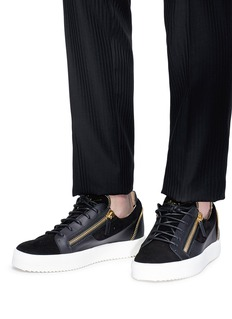Giuseppe Zanotti Design 'Kirk Low' double zip leather sneakers