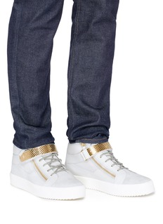 Giuseppe Zanotti Design 'Archer' suede and leather high top sneakers