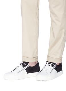 GIUSEPPE ZANOTTI DESIGN Double双拉链拼色小牛皮运动鞋