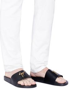 Giuseppe Zanotti Design 'Brett' calfskin leather slide sandals