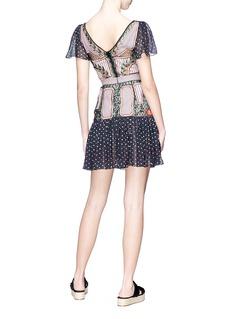 Temperley London 'Bourgeois' embroidered silk chiffon mini dress
