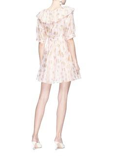 Temperley London 'Riviera' ruffle graphic jacquard mini dress