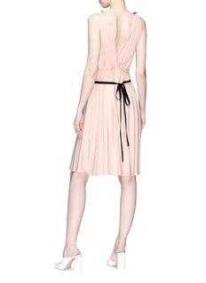Tome Pleated colourblock Grecian dress