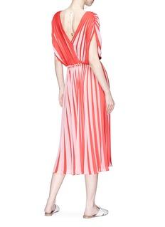 Tome Tie back stripe georgette midi dress