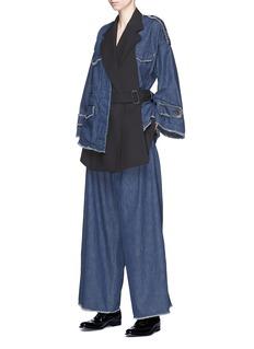 The Keiji 仿双层设计牛仔夹克
