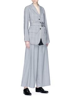 The Keiji Belted check plaid blazer