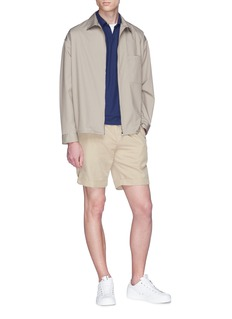 Incotex Open placket jersey polo shirt