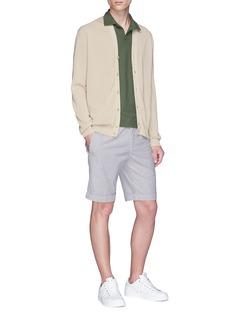 Incotex Stripe seersucker Bermuda shorts