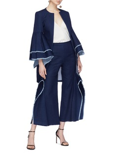 Leal Daccarett 'Flamenco' bell pleated sleeve denim coat