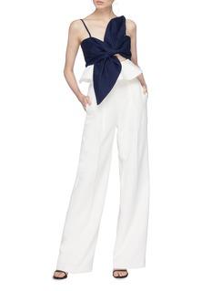 Leal Daccarett 'Anika' cutout bow tie peplum top